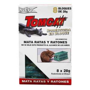 Rodenticida Rata Raton En Bloques Marca Tomcat 28g