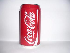 Alcancia Lata Coca Cola Colección De Aluminio. Vintage