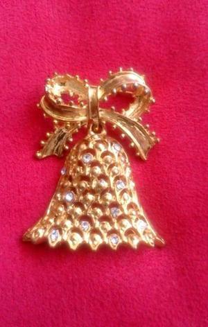 Broche Antiguo Chapa de Oro con Zirconias