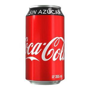 Caja De Coca Cola Sin Azúcar Con 12 Latas De 355 Ml.