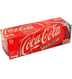 Coca - Cola Sabor Vainilla C/12 Latas Sabor Increible Origi