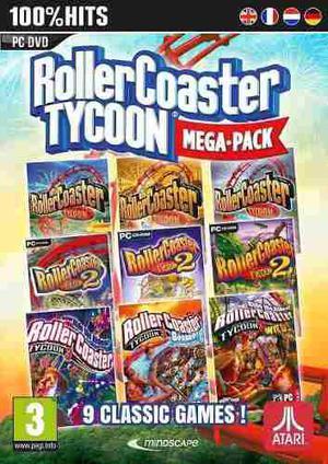 Colección Definitiva Roller Coaster Tycoon 9 En 1 Juego Pc