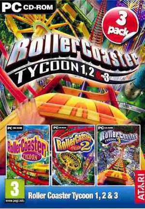 Compilación Roller Coaster Tycoon 1, 2 Y 3 Juego Pc Maa