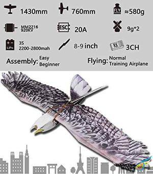 Dw Hobby Rc Epp Avión Eléctrico 1430mm Eagle Desarmado