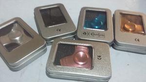 Fidget Spinner Aluminio Negro Ayuda Ansiedad Envio Gratis