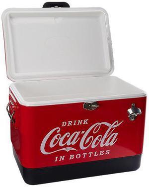 Hielera Metalica De Coca Cola Hasta 85 Latas Envio + Meses