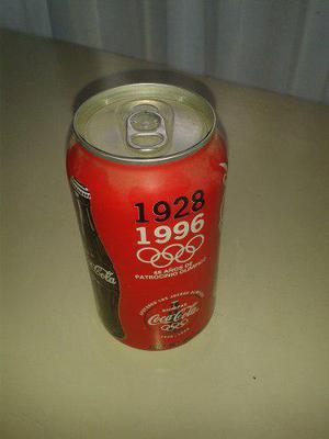 Lata Coca Cola Cerrada Y Vacía De 1996 Conmemorativa