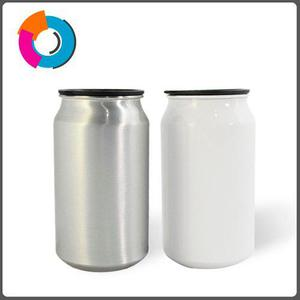 Lata Para Sublimar De Aluminio 355ml Color Plata Y Blanco