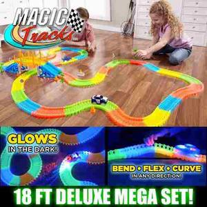 Magic Tracks De Lujo 360 Pcs, 2 Carros (con Puente)original