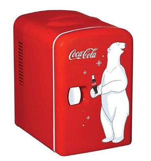 Refrigerador Personal Mini 6 Latas Coca Cola + Envío Gratis