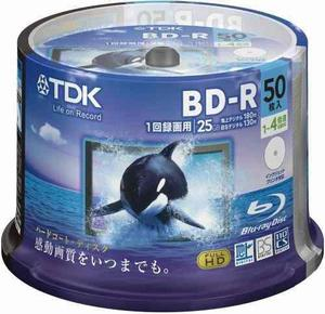 Tdk Blue-ray Bd-r 25 Gb Disk 50 Pack (importación Japonesa)