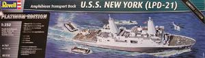 U.s.s. New York (lpd-21) By Revell Germany # 5118 1/350