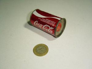 Vintage Sacapuntas En Forma De Lata Coca Cola Hong Kong 70's