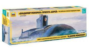 Zvezda Submarino Nuclear Vladimir Monomakh 1/350 Armar Pinta