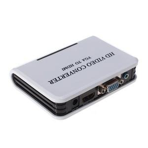 Adaptador Convertidor Vga A Hdmi p Audio Video Pc A Tv