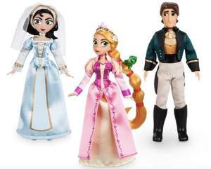 Disney Store Set De Muñecas Princesas Enredados Rapunzel