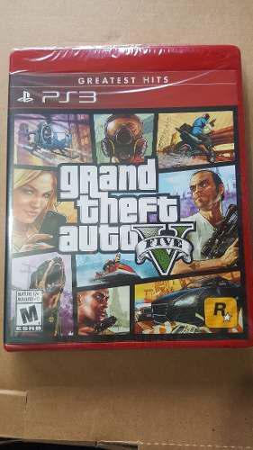 Grand Theft Auto V Para Ps3 Nuevo Y Sellado::..