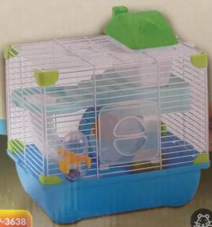 Jaula Para Hamster, Color Azul