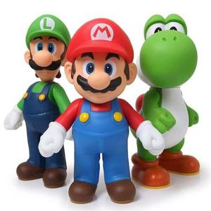 Mario Luigi Y Yoshi 3 Figuras Envio Gratis Set Articuladas