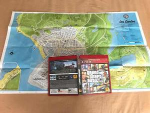 Play Station 3: Videojuego Grand Theft Auto V Con Mapa