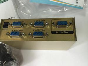 Splitter Vga 1*4 Divisor De Señal Amplificador Conecta 4 Tv