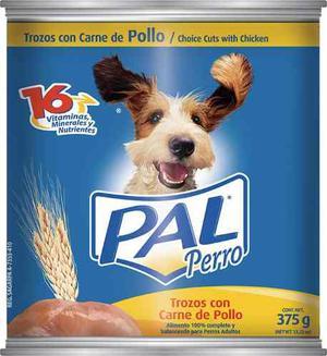 Alimento Para Perro Pal Trozos De Pollo Lata 375 Gr