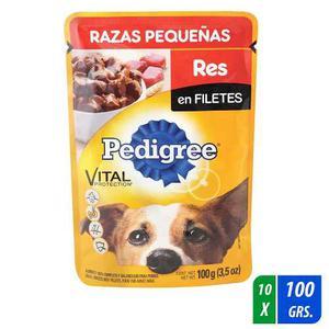 Alimento Para Perro Pedigree Razas Peq. Res 10 Paq. 100 Gr