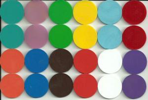 Fichas De Colores Para Juegos De Mesa Y Escuela 300 Por $100
