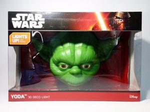 Yoda Lampara De Pared Led 3d Deco Light Star Wars