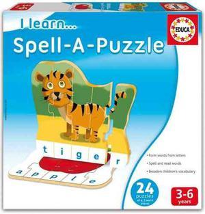 16416 Spell A Puzzle Juego Mesa Inglés Autocorrectivo Educa