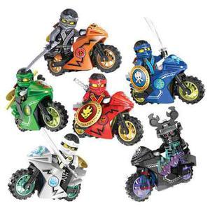 Excelente Set 6 Motocicletas Ninjago Compatible Bloques