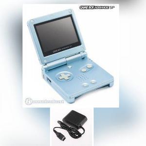 Game Boy Advance Sp Azul Perla Como Nuevo + Juego