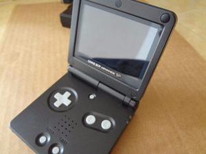 Gameboy Advance Sp 2 Luz Negro Reacondicionado Mica Cristal