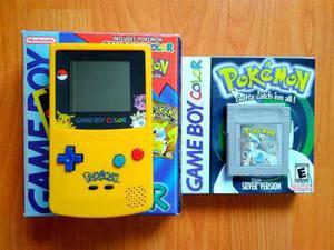 Gameboy Color Ed. Pikachu + Pokemon Silver Gbc