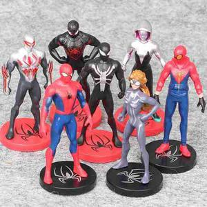 Genial Set De 7 Figuras Spiderman Homecoming Gwen 2099 9cm