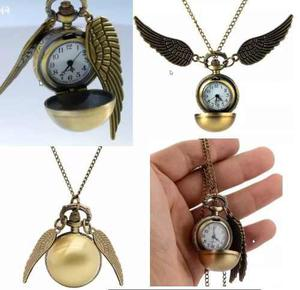 Harry Potter Snitch Dorada Reloj De Bolsillo Kawaii Cute