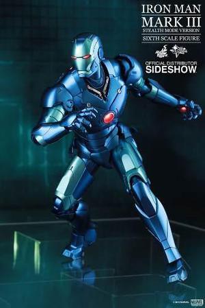 Hot Toys Iron Man Mark Iii (3) Stealth Diecast 1.6 Avengers