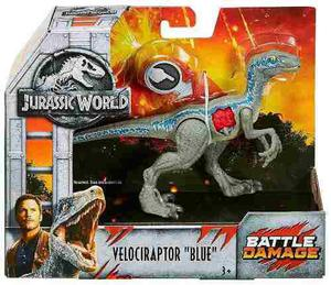 Jurassic World Figura Velociraptor Blue Battle Damage 2018