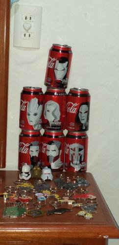 Lote Coleccionables Llaveros Y Latas Coca Cola