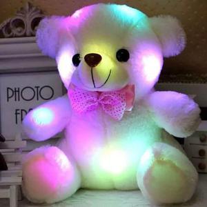 Oso De Peluche Con Luz Led Luminoso Navidad San Valentin