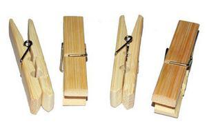 Pinza De Madera De Bambu Bamboo 40 Pzas Decoración