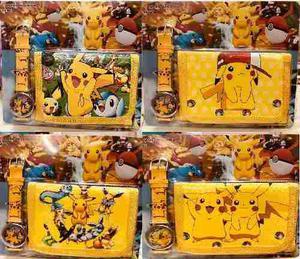 Set Reloj Y Billetera Pikachu Pokemon Envío Gratis