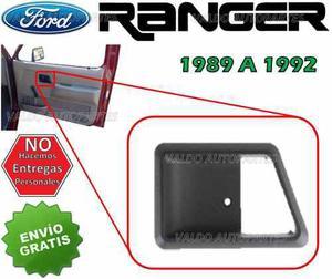 89-92 Ford Ranger Bisel Marco Para Manija Interior Derecho