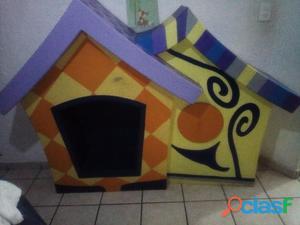 Casita decorativa para niños, cama individual madera (se