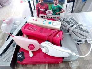 Consola Wii Edicion Roja, Con Dos Controles Y Juego