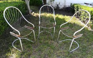 Juego de sillas de aluminio para jardín
