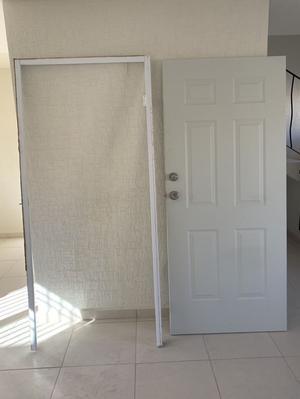 Puerta de acero para exterior y marco