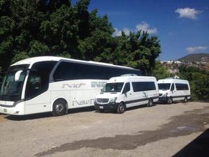 Renta de camionetas y autobuses de turismo para viajes y