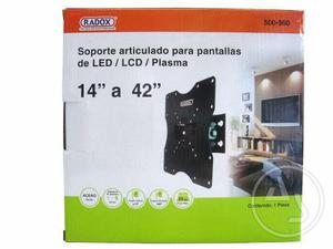 Soporte Articulado Para Pantallas De Led/lcd/plasma Radox