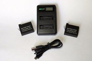 Baterias Para Gopro Hero 4 Ahdbt-401 (2 Baterias + Cargador)